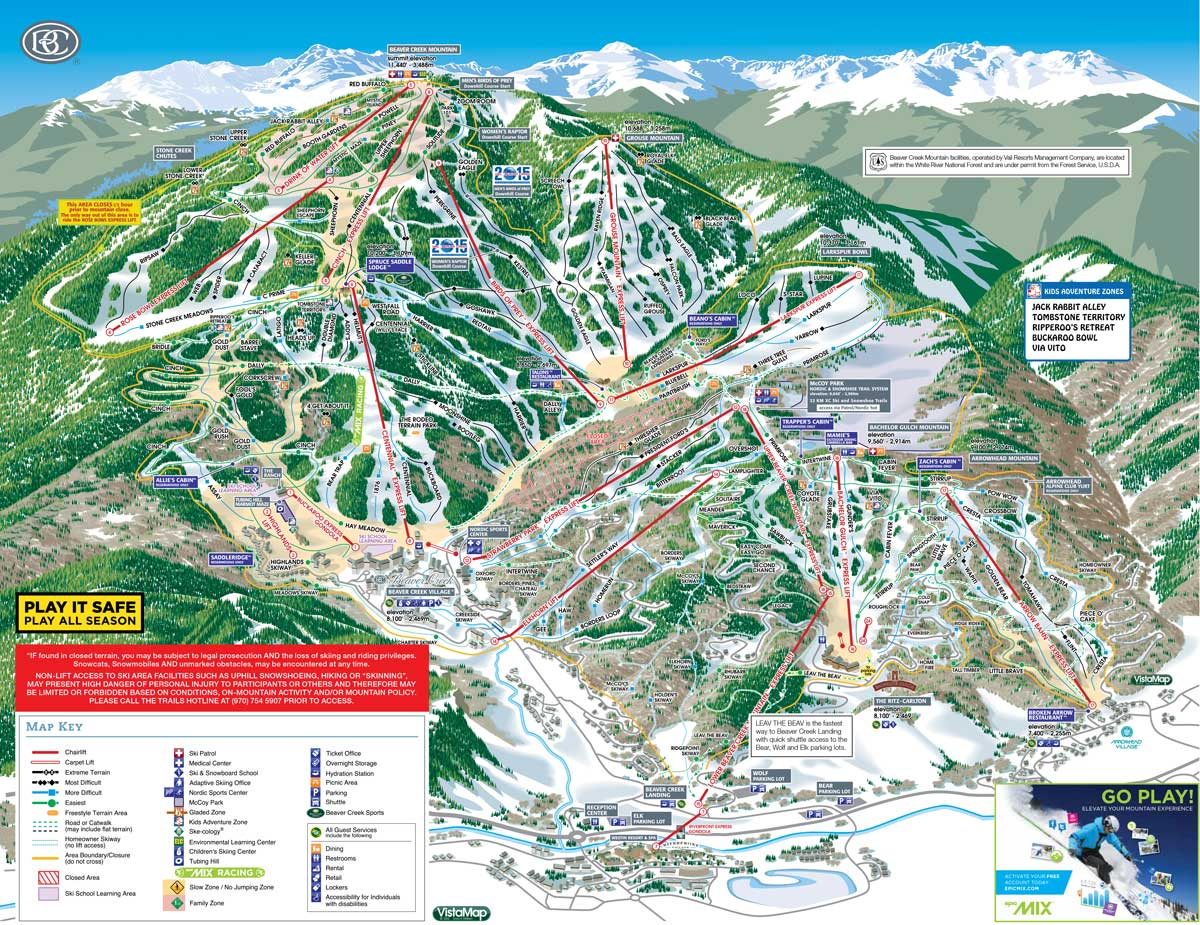BEAVER CREEK - TRAIL MAP