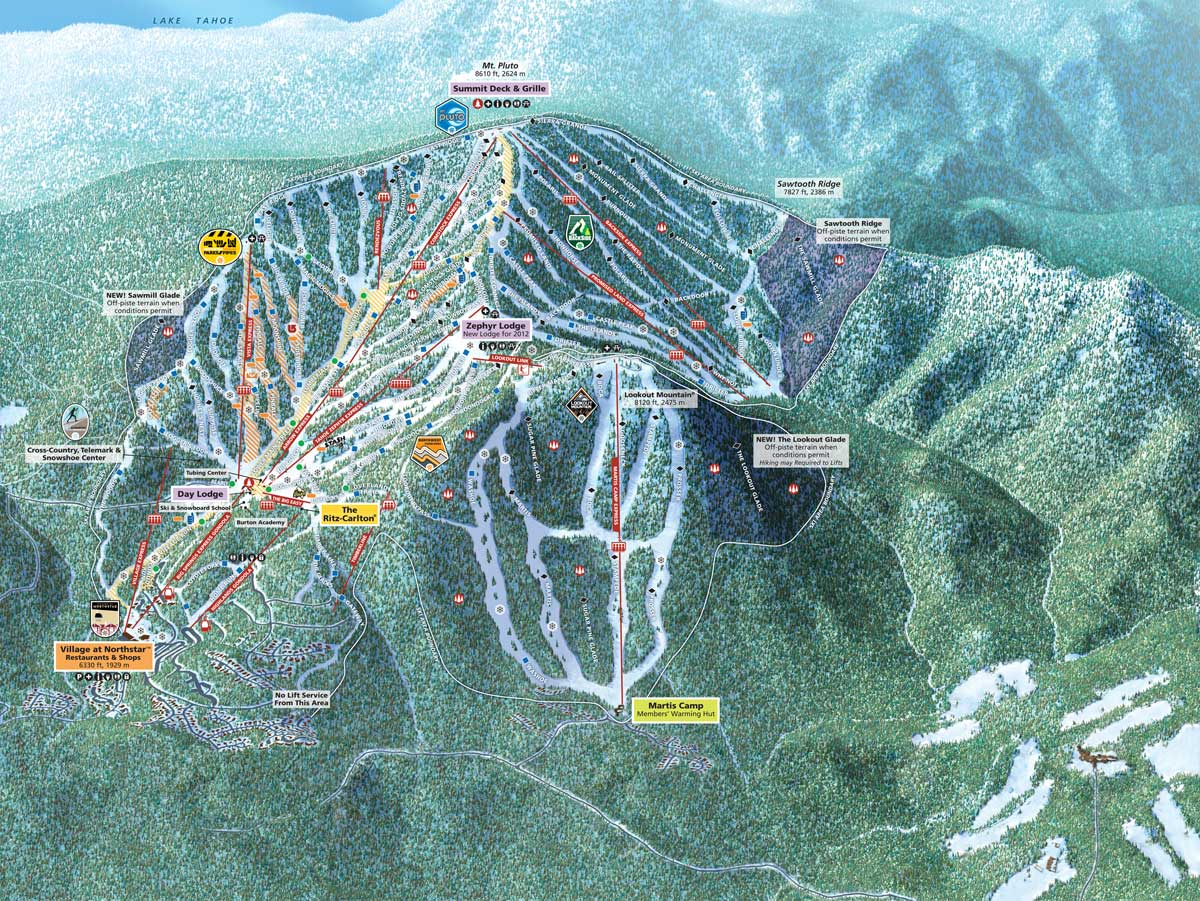 NORTHSTAR - TRAIL MAP